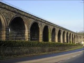 Rail route bridge
