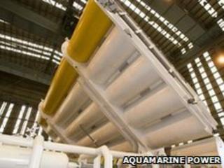 Oyster wave power machine