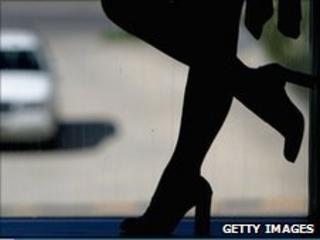 Prostitute waits for clients in Sydney (file photo)