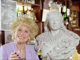 Peggy Mitchell (Barbara Windsor) in the Queen Vic