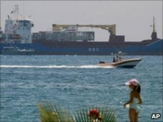 Antigua and Barbuda-flagged cargo ship Santiago off the coast near Limassol, Cyrpus (22 June 2010)