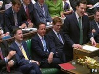 George Osborne in the House of Commons