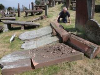 Graveyard vandals