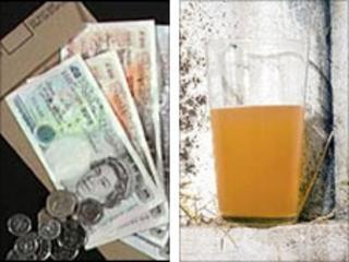 Pay packet (l) and cider