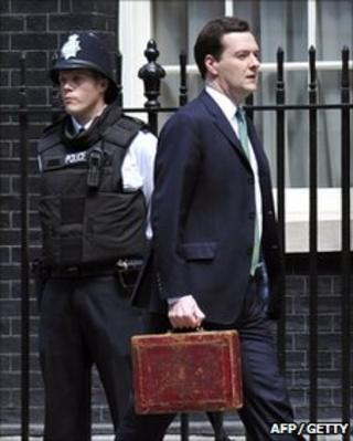 George Osborne outside Downing Street