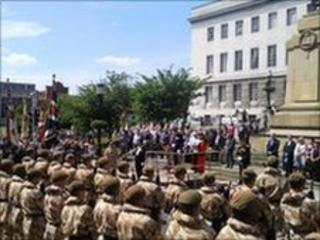 The 3rd Battalion the Yorkshire Regiment in Barnsley