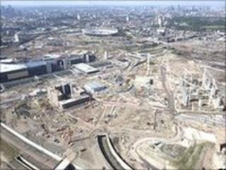 London's Olympic Park under construction
