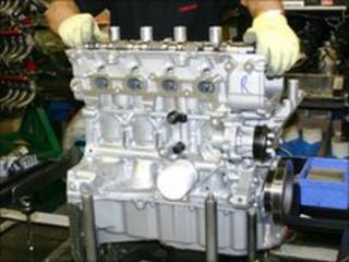 Production of the new engine