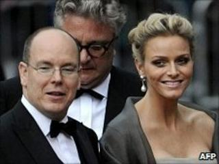 Prince Albert and Charlene Wittstock in Stockholm, June 18 2010
