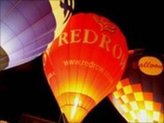 Night Glow at Llangollen Balloon Festival (picture Ric Morris)