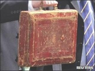 Budget dispatch box held by George Osborne