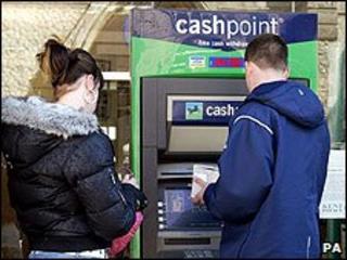 Lloyds TSB cashpoint machine