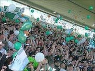 Argyle fans in celebratory mood