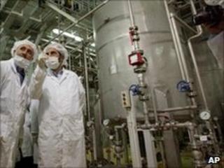 Iranian lawmakers visit the Isfahan uranium conversion facility 2004