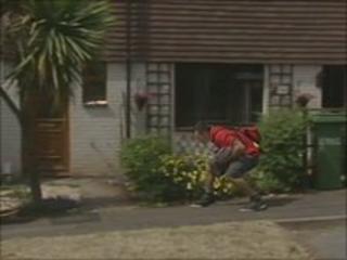 Ducking postman