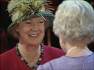 Dame Perkins is awarded and OBE by the Queen