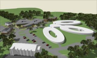 Artist's impression of new 60-bed mental health unit for older people at the Cefn Coed Hospital in Swansea