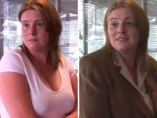 Charlene Fairley before and after choosing Dress for Success suit