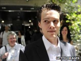 Frenchman Francois Cousteix leaving a courtroom