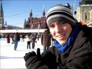 Henry Perkins in Red Square, Moscow