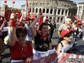 Rally in Rome, 25 June 2010