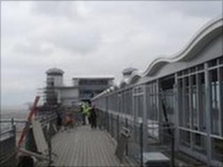 Weston-super-Mare's Grand Pier: Outside the pier