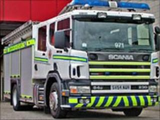 Grampian white fire engine