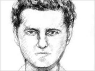 Artist's impression of a man police want to speak to