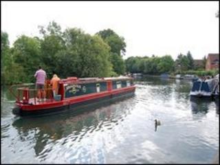 Narrowboat on canal