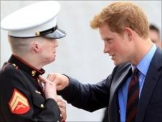 Prince Harry and Cpl Mankin
