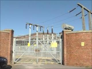 The substation in Warblington Street, Old Portsmouth
