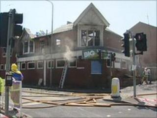 Destroyed Conservative club