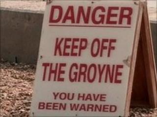 Beach safety warning