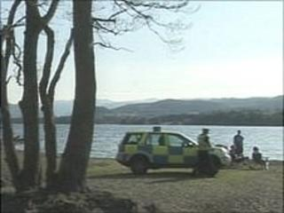 Police at Ullswater