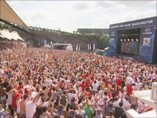 Fans at Castlefield arena