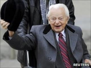 Sen Robert Byrd in a file photo from 2009