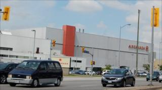 Air Canada building at the cargo area at the airport in Toronto