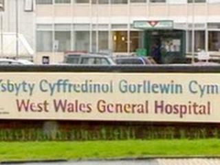 Entrance to West Wales General Hospital