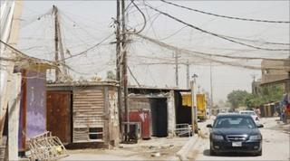 Street generators and crazy wiring in Baghdad