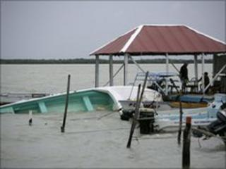 Damage caused by Alex in Chetumal, Mexico