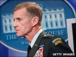 Gen Stanley McChrystal at the White House