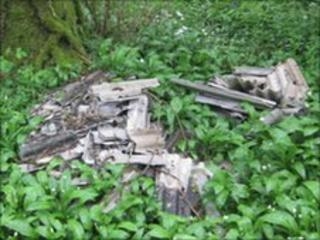 Asbestos found on a Devon footpath