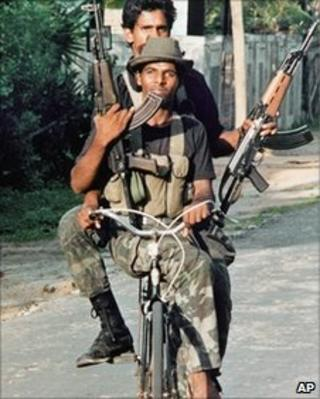 File photo of Tamil Tiger rebels