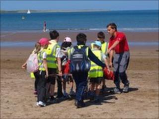 Instow beach exercise