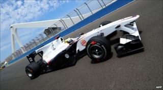 Car during Valencia GP