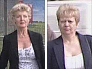 Annette Hopkins (l) and Margaret Priest