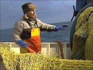 Fishing on boat Sustain
