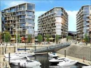 Impression of the waterfront development