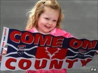 Young Ross County fan in Dingwall