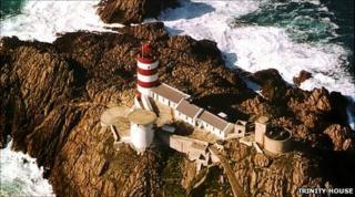 Casquets lighthouse off Alderney
